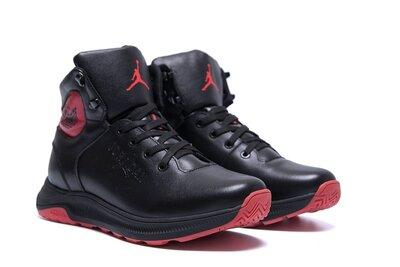 Мужские зимние кожаные кроссовки jordan зимние ботинки кожа