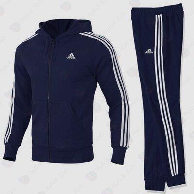 Утепленный спортивный костюм подростковый Адидас 128р - 164р