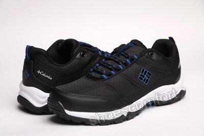 Мужские демисезонные кроссовки Columbia termo черные с синим