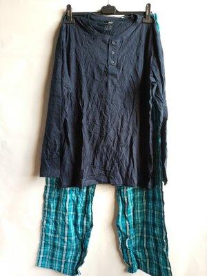 Мужская пижама лонгслив штаны хлопок немецкого бренда Livergy Европа Оригинал
