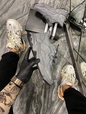Мужские кроссовки Адидас Adidas Ozweego, Топ качество, серые, р. 36-45, 002-2242