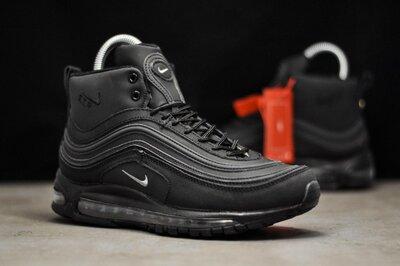 Зима. Топ качество. Мужские Зимние Кроссовки Nike Air Max 97 Black WNTR 9225