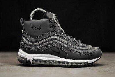Зима. Топ качество. Мужские Зимние Кроссовки Nike Air Max 97 Gray серые WNTR 9226