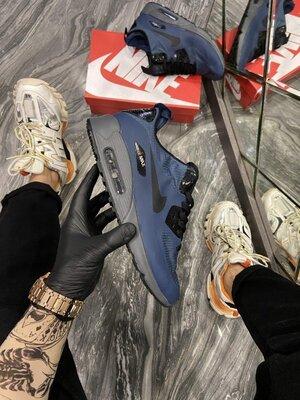 Модные мужские кроссовки Найк Nike, Топ качество, синие, р. 40-45, 002-2295