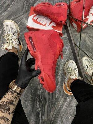 Высокие мужские кроссовки Найк Nike 95, Топ качество, красные, р. 40-45, 002-2256