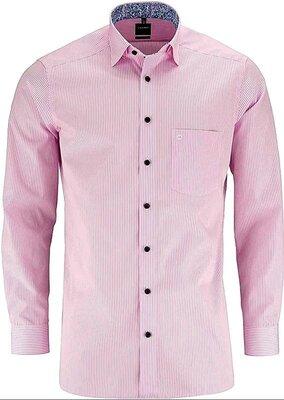 Стильная рубашка в полоску olymp luxor, оригинал, молниеносная отправка