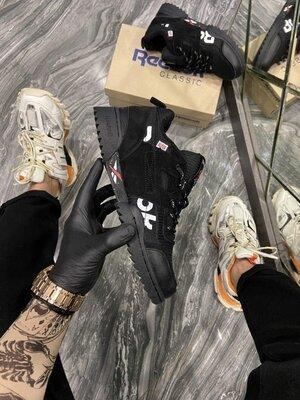 Модные мужские кроссовки Рибок Reebok, Топ качество, черные, р. 40-45, 002-2293