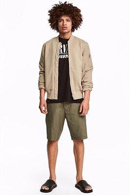 Оригинальные хлопковые шорты до колена от бренда H&M разм. 30