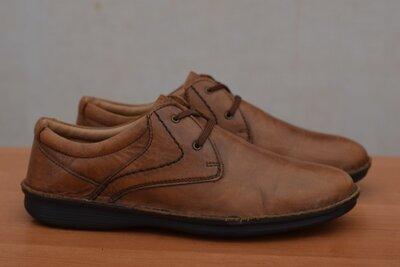 Кожаные коричневые кроссовки, кеды, туфли Pavers, 43 размер. Оригинал