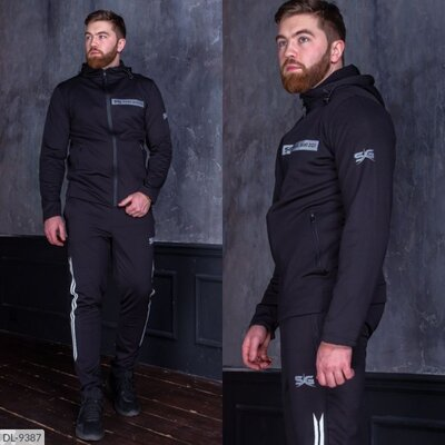 Мужской спортивный костюм ткань дайвинг