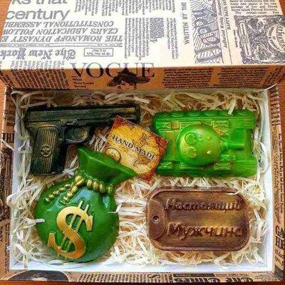 Продано: Мужской подарочный набор мыла ручной работы Джентельменский