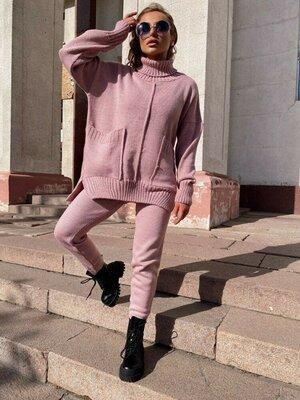 Вязаный стильный костюм Nice до 58 размера