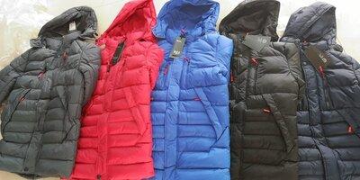 Зимняя удлиненная куртка RZZ для подростков, 150-170 рост