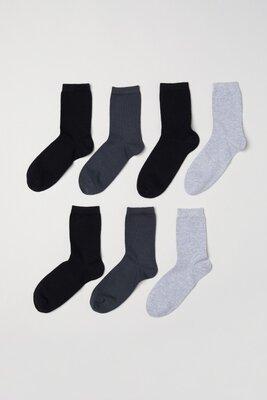 Высокие мужские носки H&M, комплект из 7 пар, размер 37-39 и 40-42