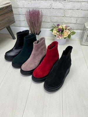 Отличное качество товара. Натуральные кожаные/замшивые женские ботинки от производителя