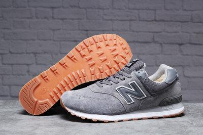 Продано: Зимние мужские кроссовки New Balance 574 мех , серые
