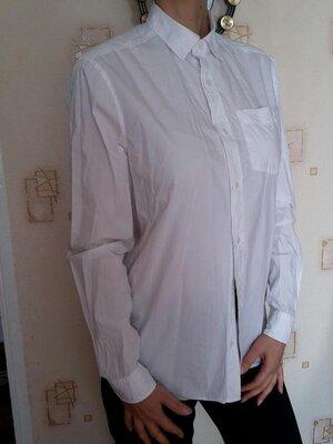 Рубашка next, белая, длинный рукав, 100% хлопок Next