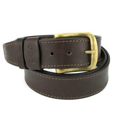 Продано: Ремень мужской кожаный со строчкой Handycover HC0072 коричневый 130 см