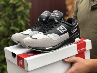 New Balance 1500 кроссовки мужские демисезонные чёрные с бежевым 9914