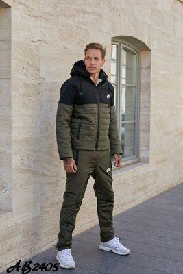 Тёплый зимний костюм, куртка на овчине