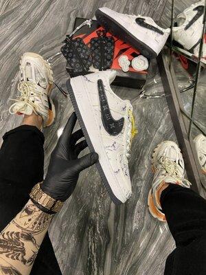Модные мужские кроссовки Найк Nike Force, Топ качество, белые, р. 41-45, 002-2243