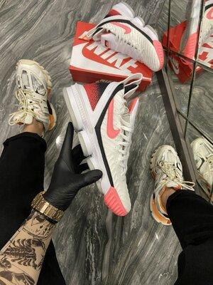 Модные мужские кроссовки Найк Nike, Топ качество, белые, р. 40-45, 002-2255