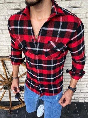 Мужская рубашка 7207 турецкий кашемир расцветки
