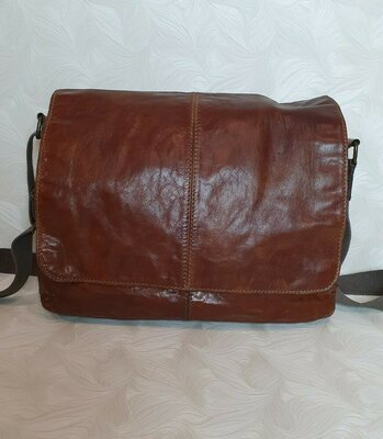 мужская кожаная сумка Fossil