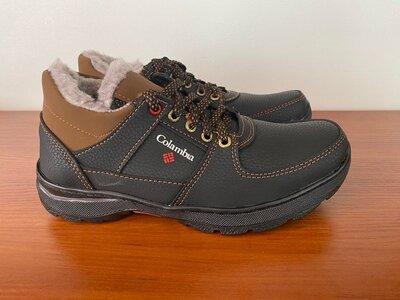 Ботинки мужские зимние черные спортивные - черевики чоловічі зимові спортивні чорні