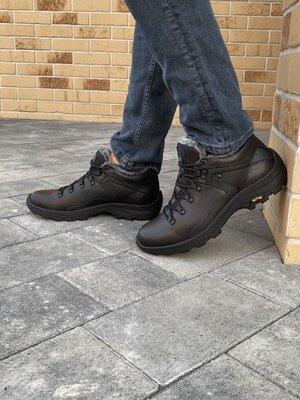 Мужские ботинки кожаные зимние черные StepWey 5230
