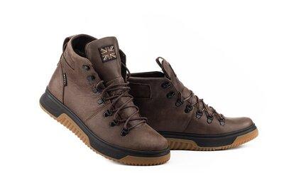 Мужские ботинки кожаные зимние коричневые Botus 8 Track