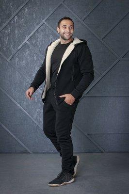 Мужской спортивный костюм тёплый кофта мех