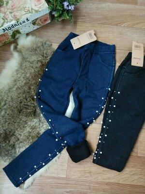 Теплые джеггинсы джинсы на меху подросток