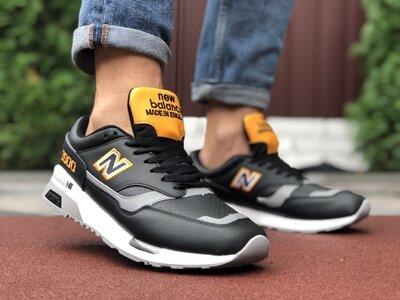 Кроссовки мужские New Balance 1500 черные с желтым