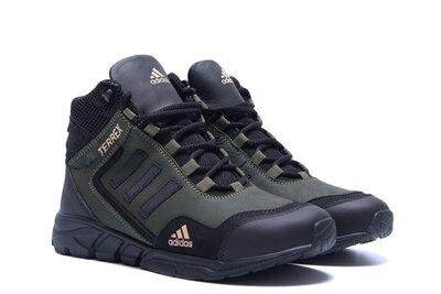 Стильные мужские зимние ботинки кроссовки adidas