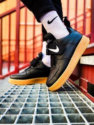 Nike Air Force 1 Black Utility Gum