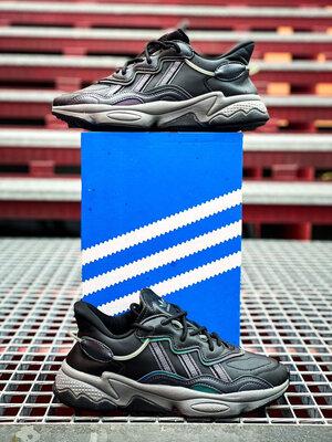 Adidas Ozweego Black Leather/Xeno On-Foot