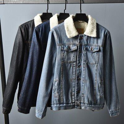 Куртка мужская джинсовая на меху Allsaints Warrior демисезон/еврозима