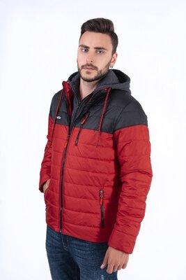 Распродажа Мужская куртка демисезон с трикотажным капюшоном TeraFox.
