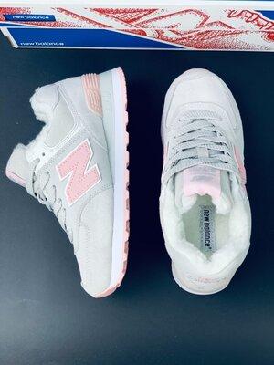 Зимние женские кроссовки на меху Нью Баланс New Balance 574 Ботинки
