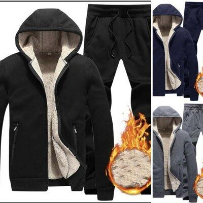 Мужской спортивный костюм тёплый трехнитка на меху