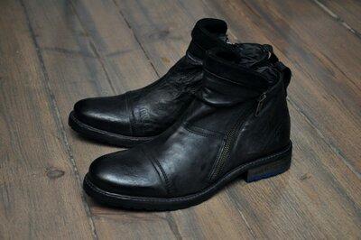 s.Oliver, Германия. Original. Брендовые демисезонные кожаные ботинки. р. 42.