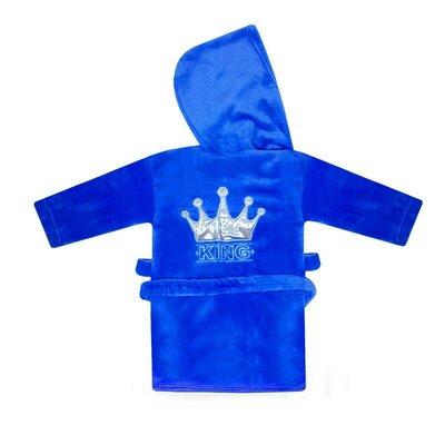 Теплый детский халат для мальчика Корона велсофт