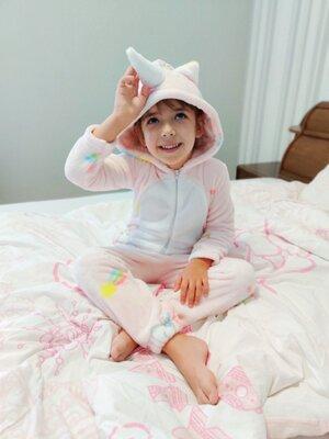 Теплая пижама для деток кигуруми махра для девочки для мальчика