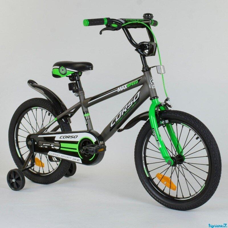 Велосипед 18 дюймов 2-х колёсный CORSO ST - 1015 1 Серый, Стальная Рама, Стальные Противоударны: 1900 грн - двухколесные велосипеды в Одессе, объявление №27326943 Клубок (ранее Клумба)