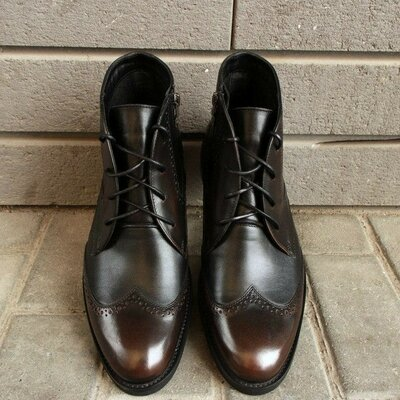 Мужские шикарные демисезонные осенние на байке ботинки оксфорды броши Челси