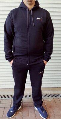 Спортивний костюм на флісі Nike, Reebok на флісі осінь-зима, 56, 58.