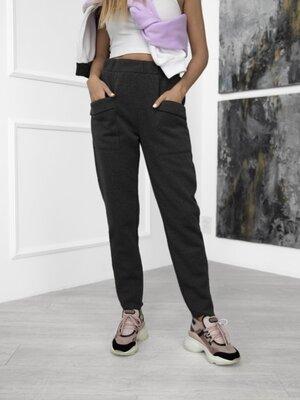S -3XL. Теплые брюки на флисе с карманами. Женские теплые спортивные штаны.