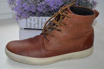 Кожаные ботинки Ecco Оригинал р. 41 по стельке 27 см