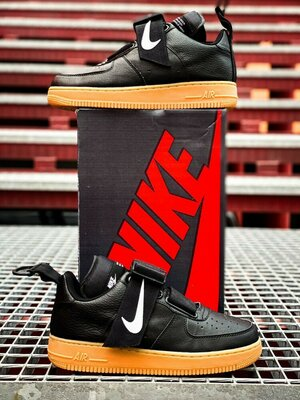 Кроссовки Nike Air Force 1 Black Utility Gum